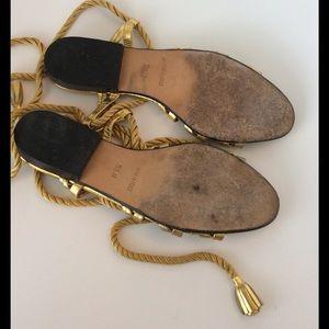 a2fbeb05081 Yves Saint Laurent Shoes - Vintage Yves St Laurent Gold Gladiator sandals
