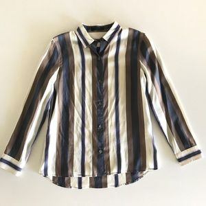 The Row Tops - The Row Jorty striped silk blouse