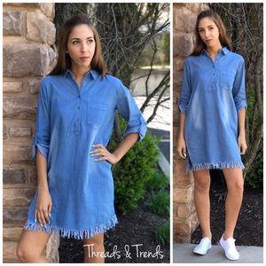 Threads & Trends Dresses & Skirts - Denim Shirt Dress