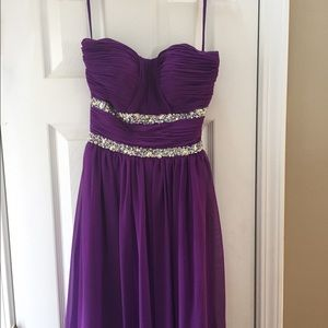 Anny Lee Dresses & Skirts - Formal long gown purple. XS. Worn once.