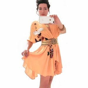 Meghan Fabulous Dresses & Skirts - Meghan RARE Lexi Tunic/Dress Silk w/ Beaded Waist