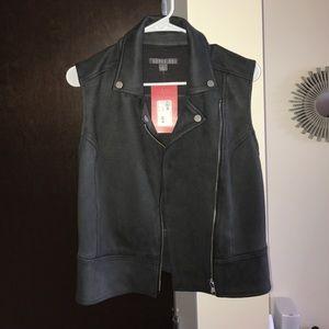 Evereve Jackets & Blazers - level 99 grey suede vest