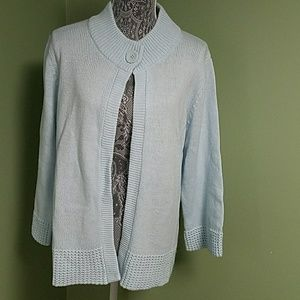 Croft & Barrow Blue Ladies Sweater / Cardigan