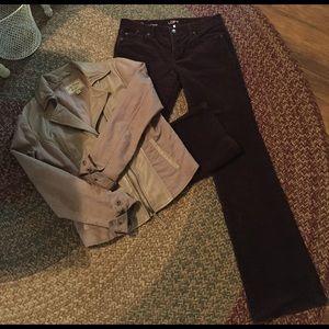 LOFT Curvy Boot Corduroy Pants
