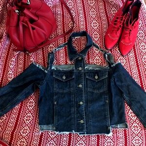 UNIF Jackets & Blazers - Deconstructed Vintage Dark Denim Jacket ❤