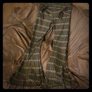 Pants - Sexy dress pants with slit leg & ribbon detail