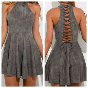 New Faux Suede Dress
