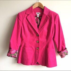 Lilly Pulitzer Jackets & Blazers - Lilly Pulitzer Hot Pink Corduroy Blazer
