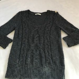 Anthropologie Sweaters - Starring at Stars Dark Gray Knit Wool Sweater