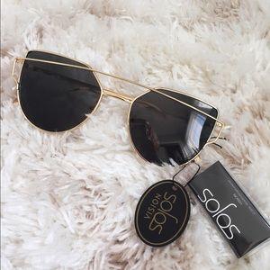 SOJOS Cat Eye Flat Lenses Women Sunglasses NWT*