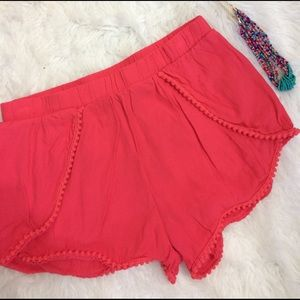 Charlotte Russe Pants - Charlottes Russe Boho Shorts with Pom Pom Ric Rac