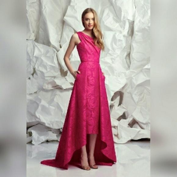 Pamella Roland Dresses   Floral Jacquard Gown   Poshmark