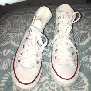 Converse Shoes - Women's white high top converses