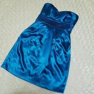 Teeze Me Dresses & Skirts - Prom Dress Aqua Sash ties Pockets Sz 7