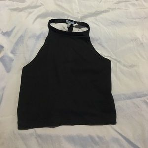 BRAND NEW open back black crop top