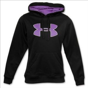 Under Armour Jackets & Blazers - Under Armour Black and Purple Hoodie Sz Small