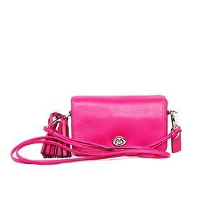 Coach Handbags - Coach Leather Legacy Penny Crossbody - Pink