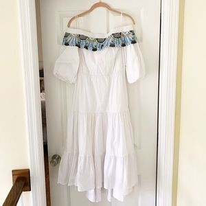 Peter Pilotto Dresses & Skirts - White Off-the-Shoulder Peter Pilotto Dress Size 8