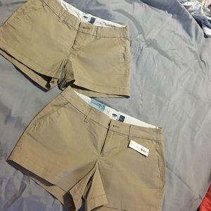 Two pairs of Old Navy khaki shorts