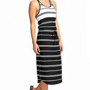 Athleta Cressida striped Drawstring stretchy dress