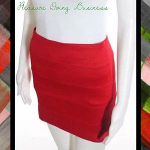 Pleasure Doing Business Dresses & Skirts - PLEASURE DOING BUSINESS Fire Red Bandage MiniSkirt