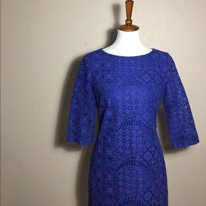 Alex Marie Dresses & Skirts - {Alex Marie} Royal Blue Lace Midi Dress