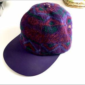 Vintage Columbia Fleece  Purple Tribal Hat