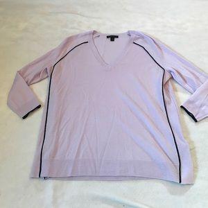 J. Crew Sweaters - J Crew Merino Wool Tipped Side Panel V Neck