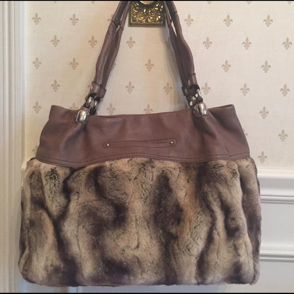 B Makowsky Bags   Brown Faux Fur Handbag   Poshmark a18d93811f
