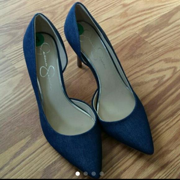f4c3ec5b65e Jessica Simpson Shoes - Jessica Simpson Denim pumps