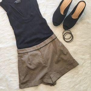 Topshop Pants - Topshop High Waisted Tweed Shorts
