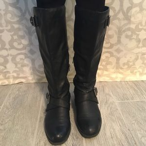 "Kohls Shoes - Black ""So"" biker boots from kohls"