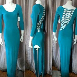 Necessary Clothing Dresses & Skirts - Jade Lattice Back Maxi Dress