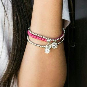 Jewelry - Bloom Out red silver Bracelets