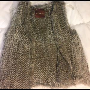 525 America Jackets & Blazers - 525 America real fur vest!!