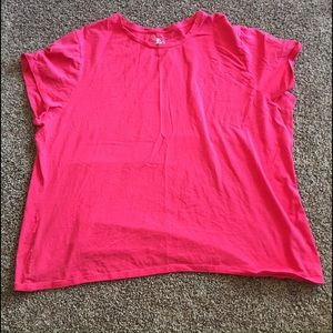 Just My Size Tops - JMS Pink SS Career T-Shirt EUC