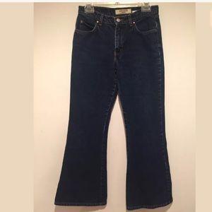 Paris Blues Denim - PARIS BLUES Dark Wash Flare Mid-Rise Blue Jeans