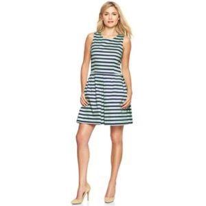 ✨ Gap Women Stripe Sateen Fit & Flare Dress