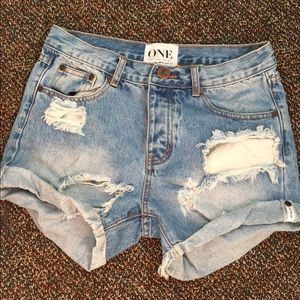 One teaspoon charger shorts size 24 NWOT
