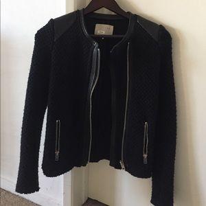 IRO Jackets & Blazers - Iro leather trim jacket