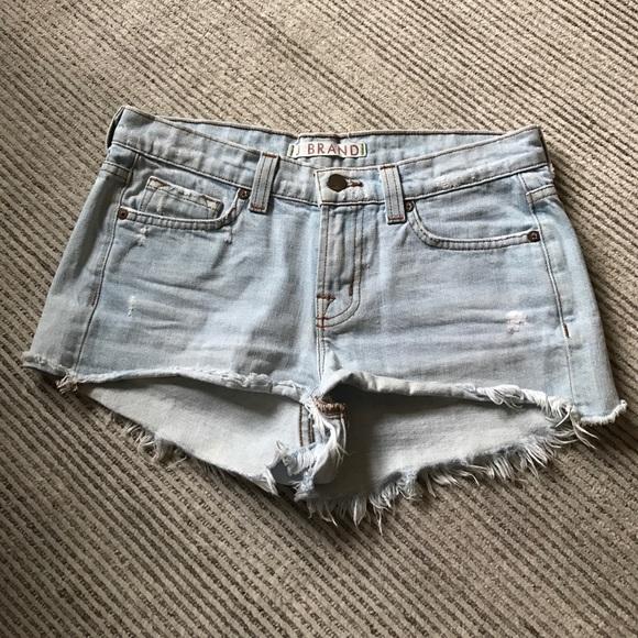 J Brand Pants - J Brand Light Blue Frayed Jean Shorts