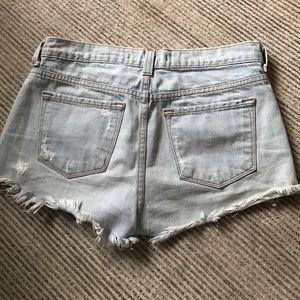 J Brand Shorts - J Brand Light Blue Frayed Jean Shorts