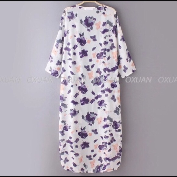Sweaters - HP! Floral Boho Chic Long Kimono Cardigan LAST 1!!