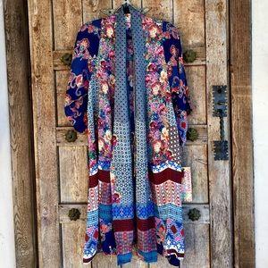 Johnny Was FLORAL PAISLEY POLKA DOTS Kimono