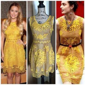 Yoana Baraschi Yellow Gold SILK Honeycomb Lace