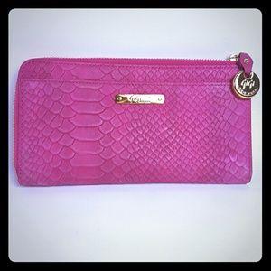GiGi New York Handbags - GiGi NY PHONE WALLET Magenta Embossed Python