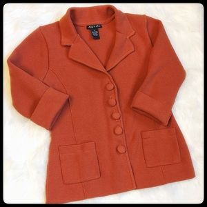 Audrey & Grace Jackets & Blazers - ⭐️SALE⭐️Thick Knit Fitted Rust Colored Blazer