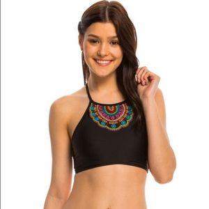 Hobie Other - NEW Hobie Large Black Halter Boho Bikini
