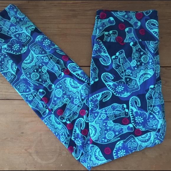 5a6a9327f4dd72 LuLaRoe Pants | Mosaic Paisley Elephants Os Leggings | Poshmark