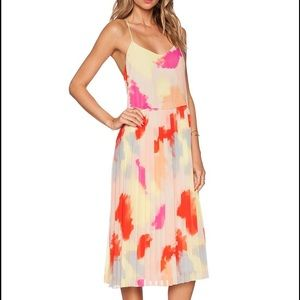 1. State Dresses & Skirts - Crystal Pleat Midi Dress in Sand